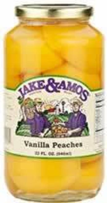 Jake and Amos Vanilla Peach Halves 32 Ounces