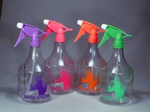 Neon Orange 36 Ounce Spray Bottle With Horse Head Design