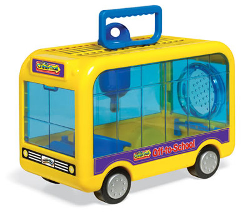 CritterTrail Off-To-School Bus Small Animal Carrier