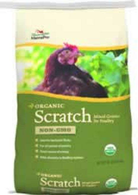Manna Pro Organic Non-GMO Chicken Scratch Feed 30 Pounds