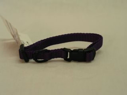 Hamilton Adjustable Dog Collar, 7-12 Inches, Hot Purple