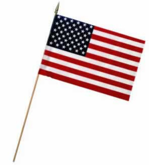 """Valley Forge USA Stick Flag 8"""" x 12"""""""