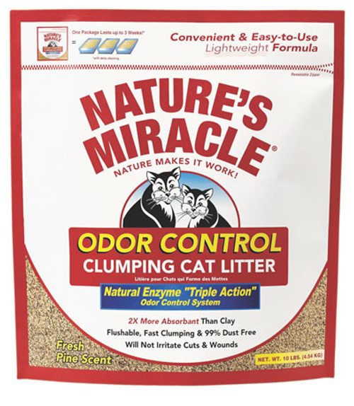 Nature's Miracle Odor Control Clumping Cat Litter, 10 Pounds