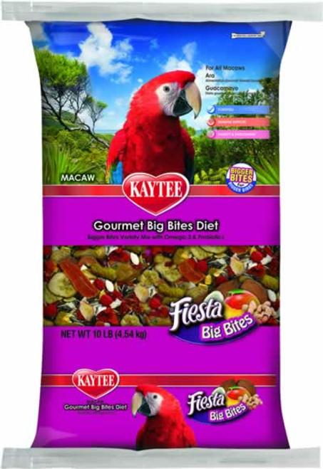 Kaytee Fiesta Gourmet Big Bites Macaw Bird Food 10 Pounds