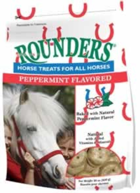 Blue Seal Peppermint Rounders Horse Treats, 30 Oz.