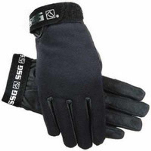 SSG 9000 All Weather Winter Lined Black Horse Riding Gloves