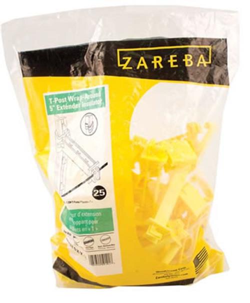 Zareba T-post Wrap-around 5''  Extender Insulator, 25 Pack, Yellow
