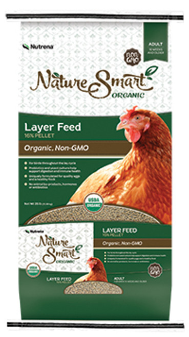Nutrena Nature Smart Organic 16% Layer Pellet Chicken Feed, 35 Lbs.