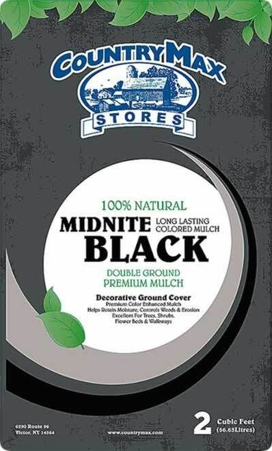 Midnite Black Premium Hardwood Mulch, 2 Cu. Ft.