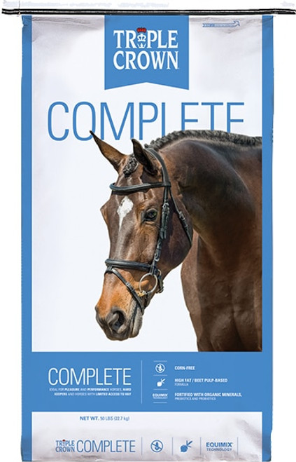 Triple Crown Complete Racing Formula Horse Feed, 50 Lb.