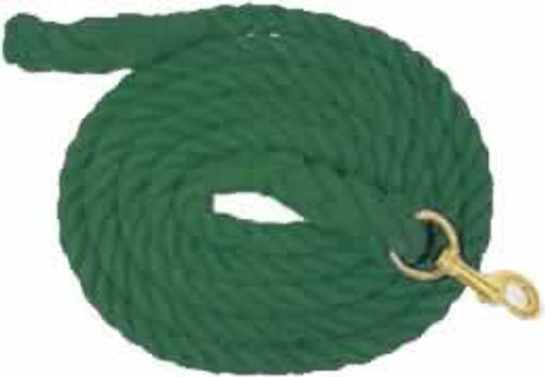 Partrade Cotton Horse Lead Rope, 10' Hunter