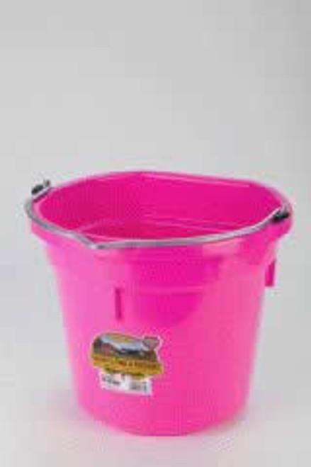 Duraflex 20 Quart, Hot Pink Flat Back Bucket
