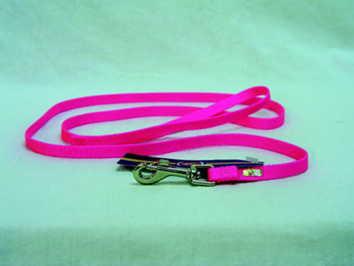 Hamilton Single Thick Hot Pink Nylon Lead, 6' x 3/8
