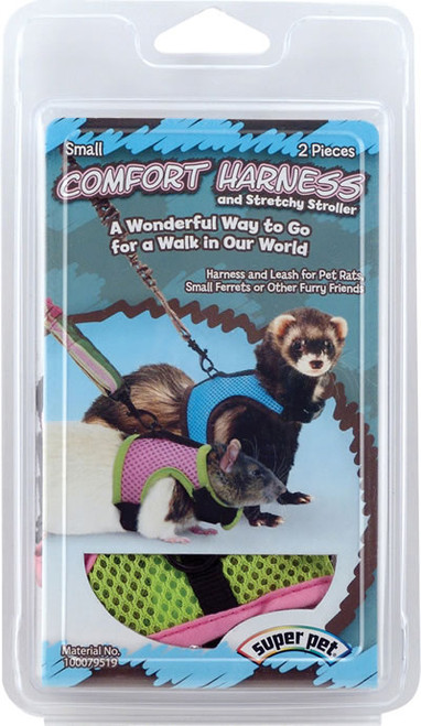 Comfort Harness With Stretchy Leash, Small