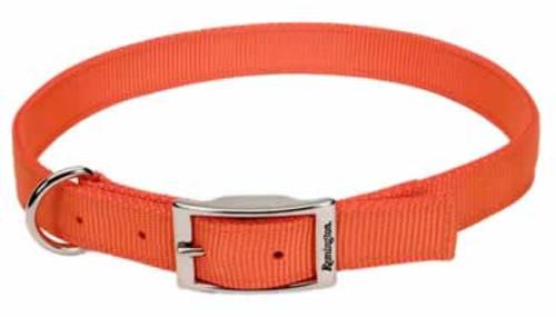 Coastal Remington Double-Ply Orange Reflective Nylon Dog Collar