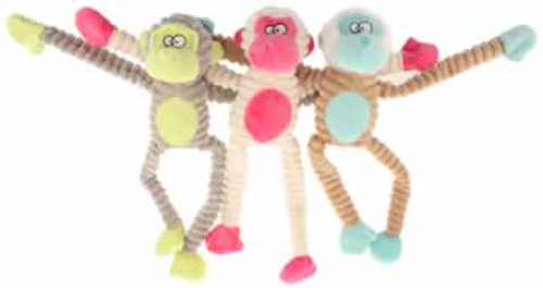 PetSport USA Tuff Squeaks Plush Jungle Monkey Dog Toy