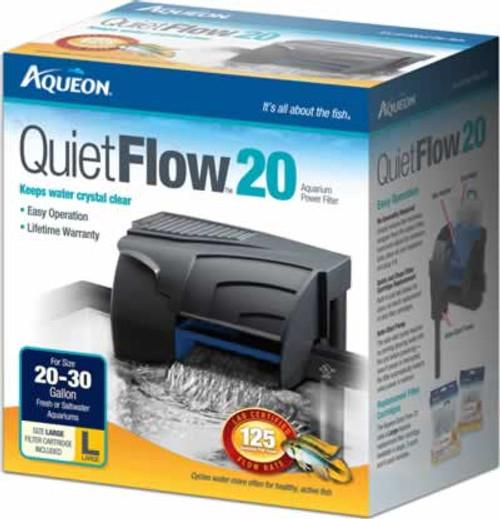 Aqueon QuietFlow Power Filter 20, 125 GPH