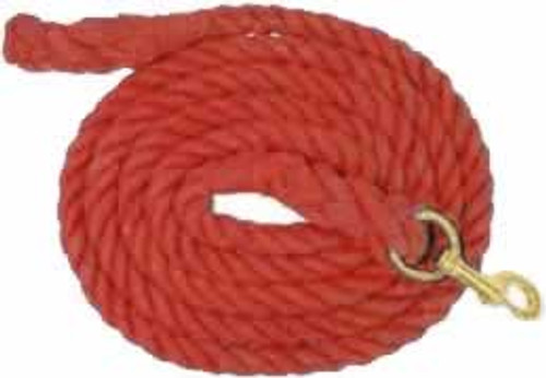 Red Cotton Lead Rope, 3/4 Inch x 10 Feet