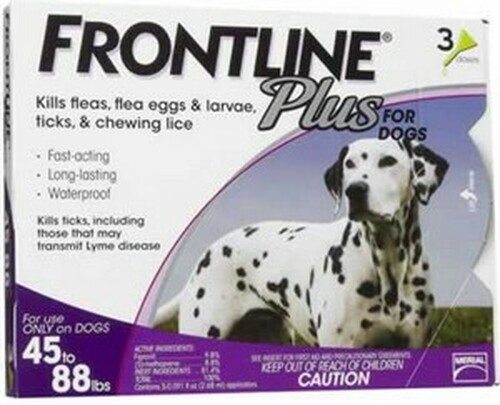 Frontline Plus for Dogs 45-88 Pounds 3 Pack