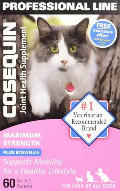 Cosequin Maximum Strength Joint Health Supplement for Cats 60 Capsules