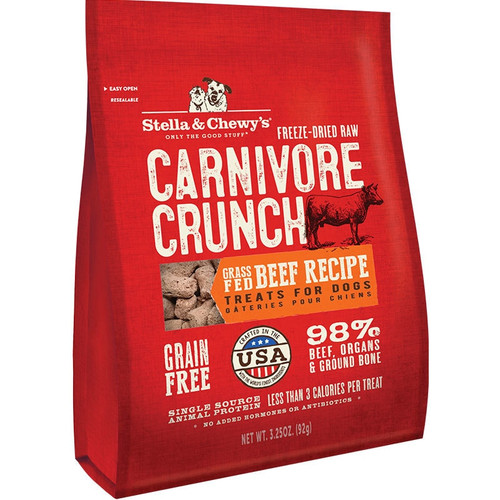 Stella & Chewys Carnivore Crunch Beef Treats, 3.25 Oz.