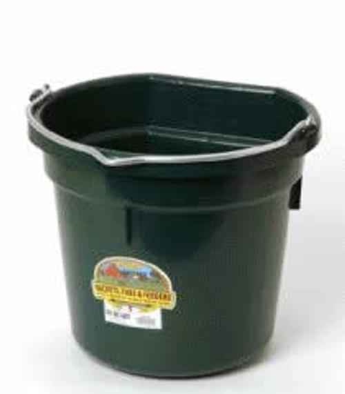 Duraflex 20 Quart, Green Flat Back Bucket