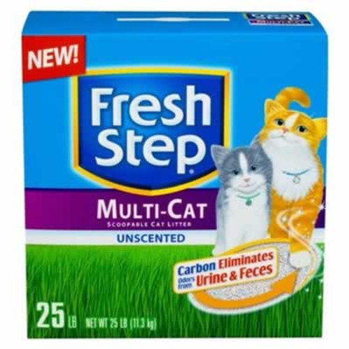 Fresh Step Multi-Cat Scoopable Unscented Cat Litter 25 Pounds