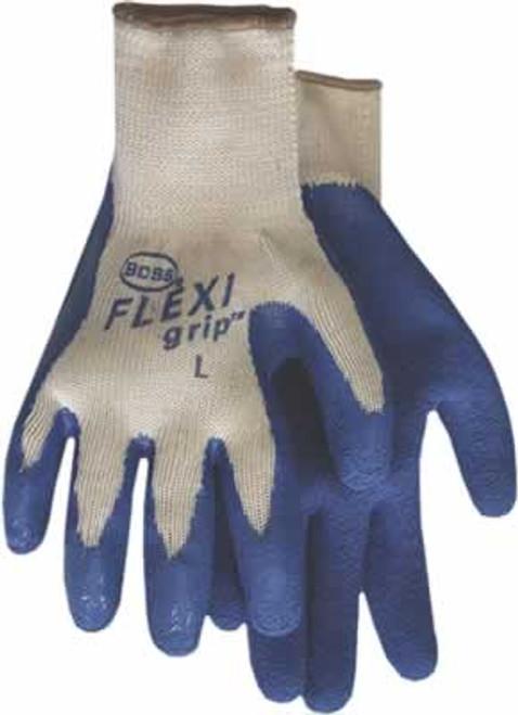 Boss FLEXIgrip Blue Latex Palm String Kit Work Glove, Medium