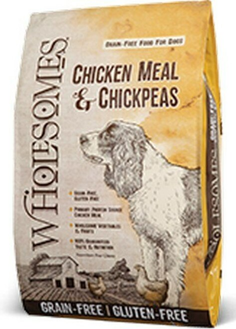 SportMix Wholesome Grain Free Chicken Meal and Chickpea Dog Food.