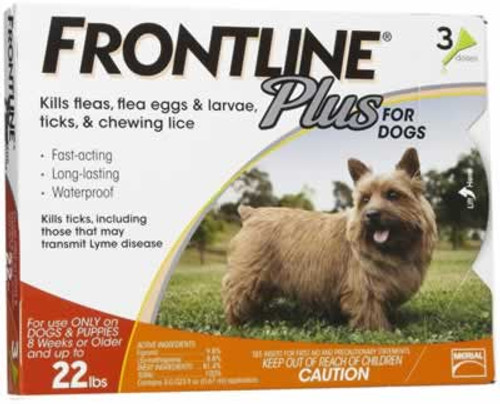 Frontline Plus for Dogs 1-22 Pounds 3 Pack