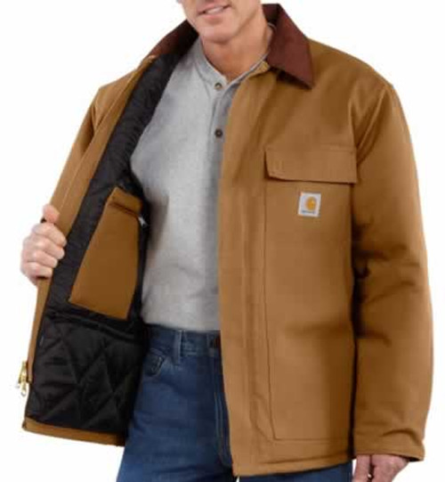 Carhartt Traditional Cotton Duck Artic Quilt-Lined Brown Coat