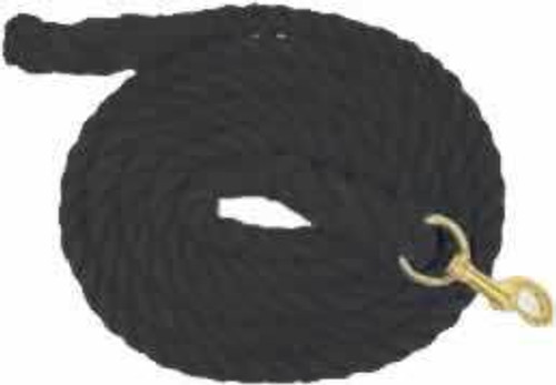 Partrade Cotton Horse Lead Rope, 10' Black