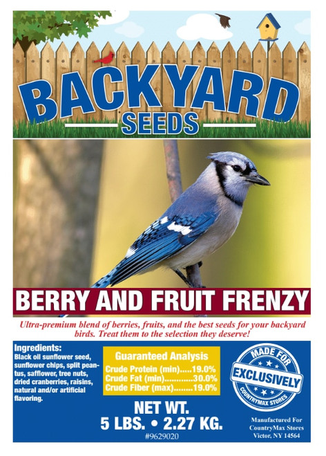 Backyard Seeds Berry 'N Fruit  Frenzy Bird Seed