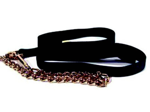 Nylon Horse Lead With Chain, Hunter