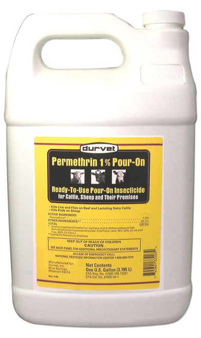Durvet Permethrin 1% Pour On Gallon