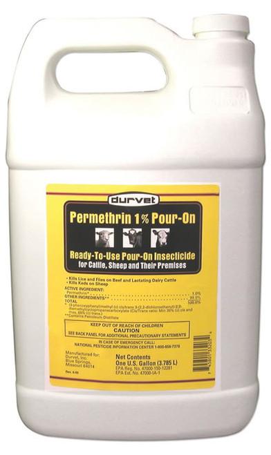 Durvet Permethrin 1% Pour On Gallon