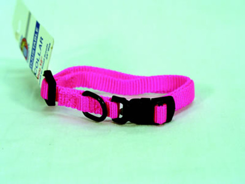 "Hamilton Hot Pink Adjustable Dog Collar, 3/8"" x 7-12"