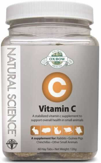 Oxbow Natural Science Vitamin C Small Animal Supplement 60 CT