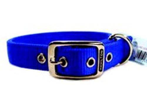 Hamilton Double Thick Deluxe Blue Nylon Buckle Collar 1 x 20 Inch