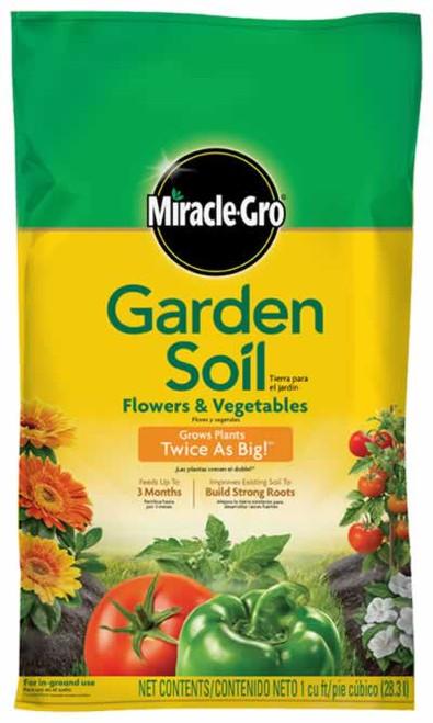 MiracleGro Garden Soil Flower & Vegetable 1 Cubic Foot