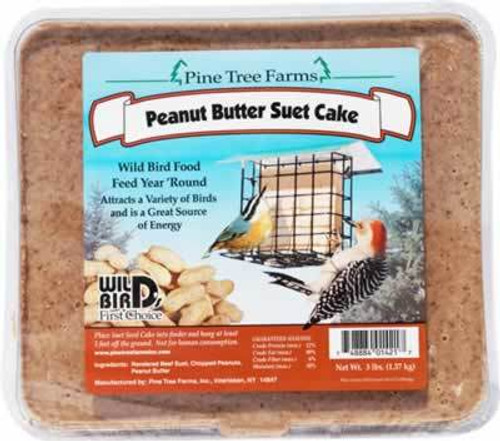 Pine Tree Farms Peanut Butter Suet Cake, 3 Pounds