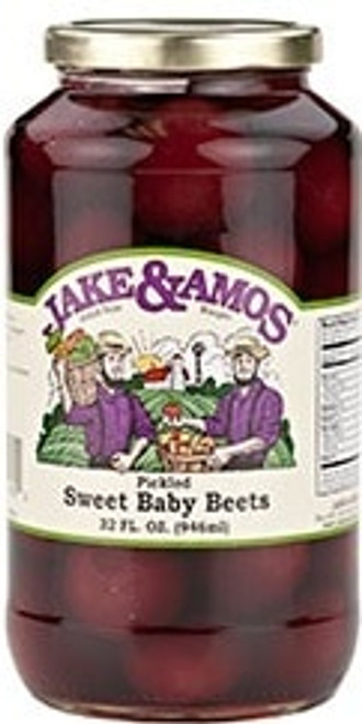 Jake and Amos Pickled Sweet Baby Beets 34 Ounces