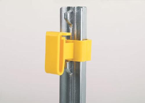 Dare T-Post Yellow Tape Insulator, 25 Pack