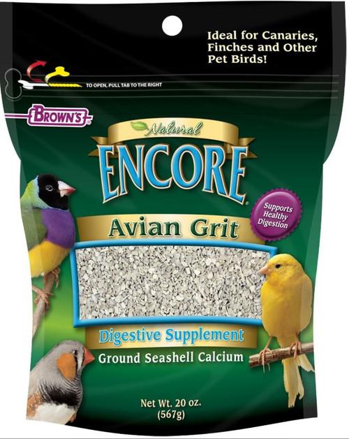 F.M. Browns Super Premium Avian Grit Plus, 20 Oz.