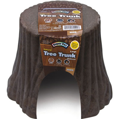 Super Pet Natural Tree Trunk Small Animal Hideout, Large
