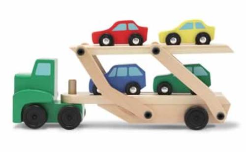 Melissa & Doug Car Carrier Truck & Cars Wooden Toy Set 1