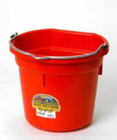Duraflex 20 Quart, Red Flat Back Bucket