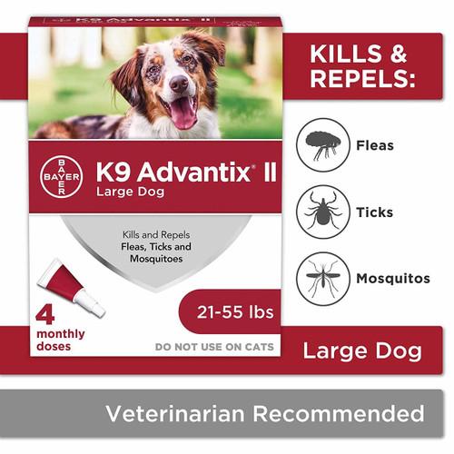 K9 Advantix II Dog Flea & Tick Treatment 4 Pack 21-55 Lbs.