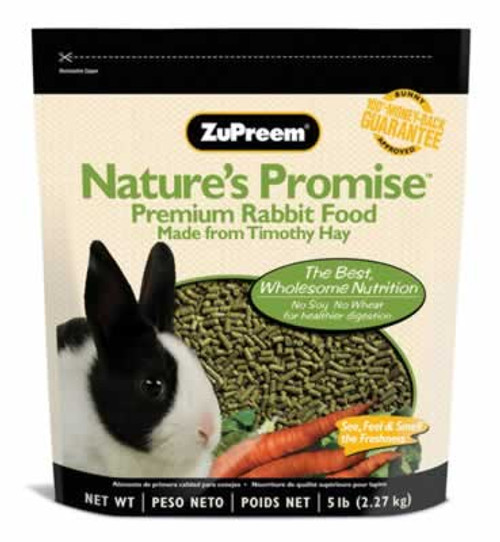 Zupreem Nature's Promise Premium Rabbit Food, 5 Pound