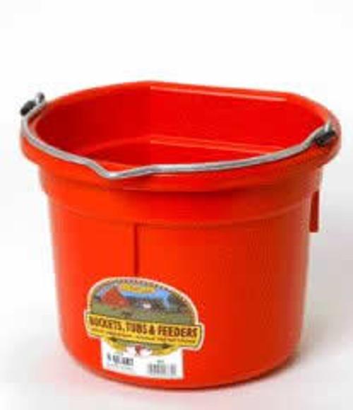 Duraflex 8 Quart, Black Flat Red Bucket